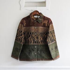 Breckenridge Zebra Safari Tapestry Jacket